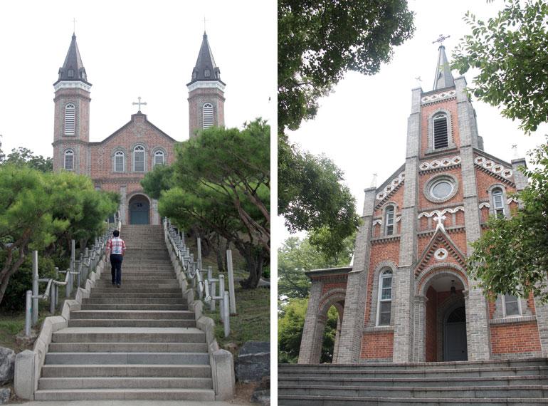 合徳教会と貢税里教会