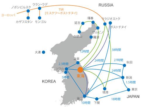 東海圏経済圏地図