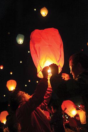 達句伐観灯祭り